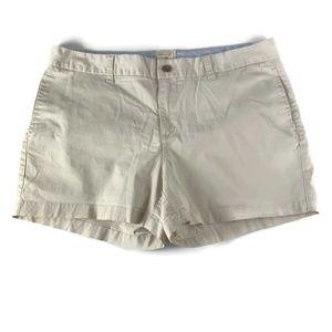 "GAP Sz 15 Beige Shorts 4"" Khakis Chinos Flat Front"